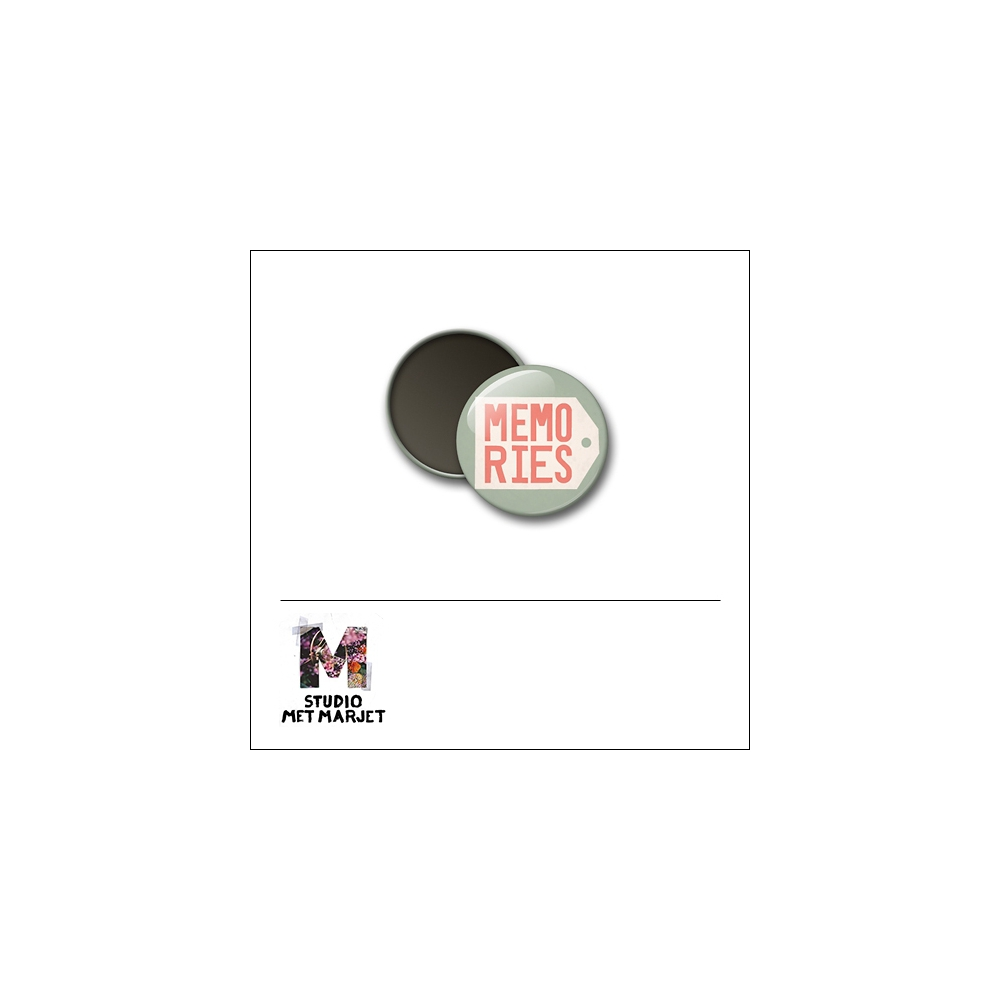 Scrapbook and More 1 inch Round Flair Badge Button Memories by Studio Met Marjet