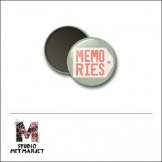 Scrapbook and More 1 inch Round Flair Badge Button Memories by Studio Met Marjet