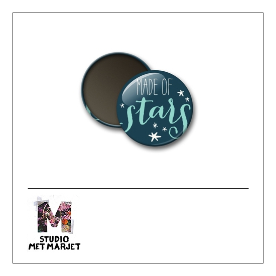 Scrapbook and More 1 inch Round Flair Badge Button Made of Stars by Studio Met Marjet
