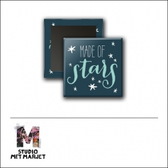 Scrapbook and More 1 inch Square Flair Badge Button Made Of Stars by Studio Met Marjet