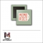Scrapbook and More 1 inch Square Flair Badge Button Memories by Studio Met Marjet