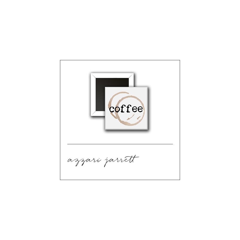 Scrapbook and More 1 inch Square Flair Badge Button White Coffee by Azzari Jarrett