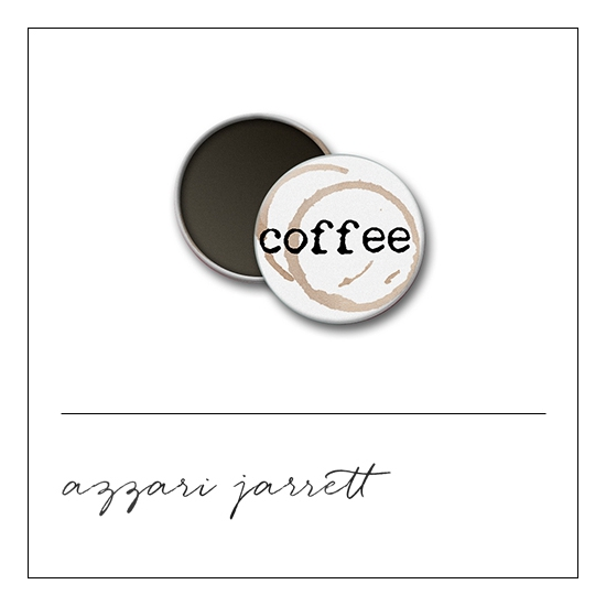 Scrapbook and More 1 inch Round Flair Badge Button White Coffee by Azzari Jarrett
