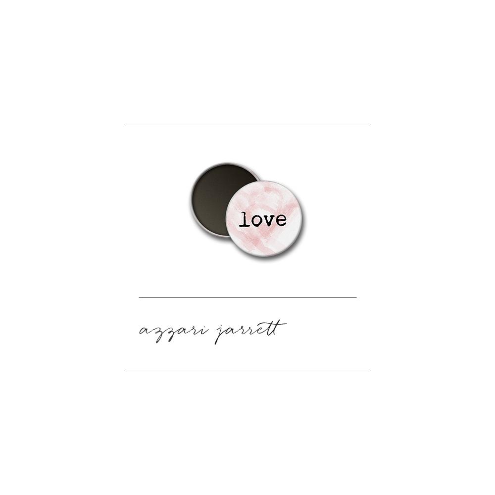 Scrapbook and More 1 inch Round Flair Badge Button White Love by Azzari Jarrett