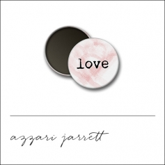 Scrapbook and More 1 inch Round Flair Badge Button White Love by Azzari Jarrett