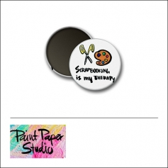 Scrapbook and More 1 inch Round Flair Badge Button Scrapbooking Is My Therapy by Olya Schmidt