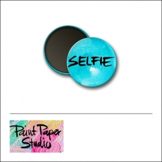 Scrapbook and More 1 inch Round Flair Badge Button Watercolor Selfie by Olya Schmidt