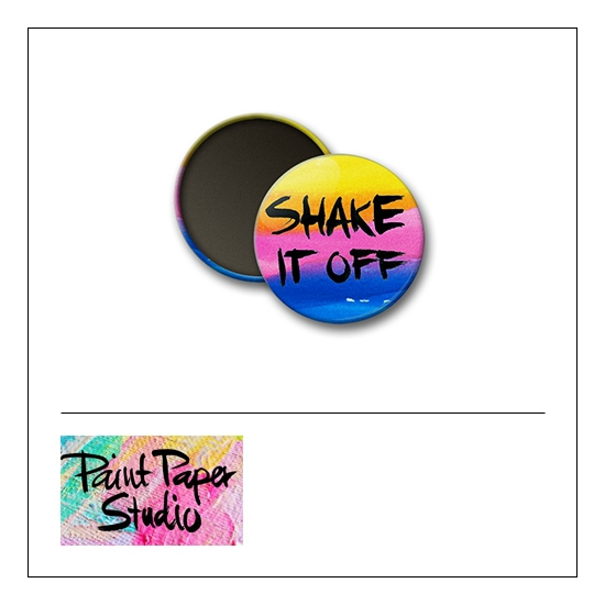 Scrapbook and More 1 inch Round Flair Badge Button Watercolor Shake It Off by Olya Schmidt