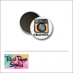 Scrapbook and More 1 inch Round Flair Badge Button Obsessed Instagram by Olya Schmidt