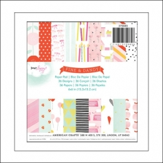 American Crafts Paper Pad 6x6 inches Fine and Dandy Collection by Dear Lizzy