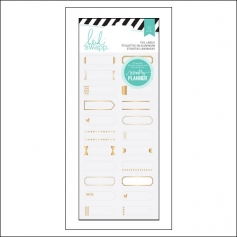 Heidi Swapp Gold Foil Label Stickers Hello Beautiful Memory Planner Collection