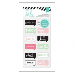 Heidi Swapp Puffy Chat Bubble Stickers Hello Beautiful Memory Planner Collection