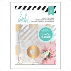 Heidi Swapp Clear Gold Foil Pocket Cards Hello Beautiful Memory Planner Collection