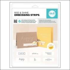 We R Memory Keepers Greeting Card Embossing Strips Rise and Shine Collection by Amy Tangerine