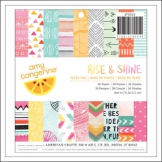 American Crafts Paper Pad 6x6 inches Rise and Shine Collection by Amy Tangerine