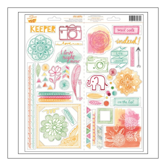 American Crafts Remarks Transparent Accent and Phrase Stickers Rise and Shine Collection by Amy Tangerine