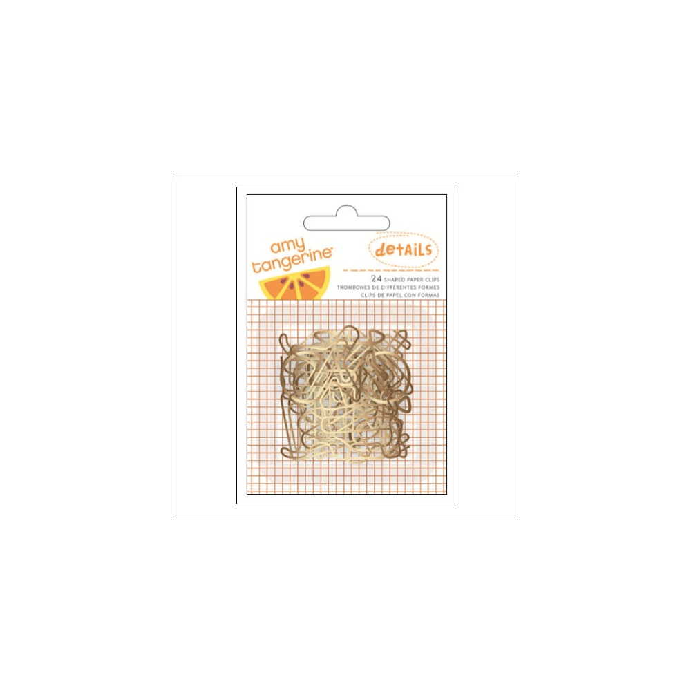 American Crafts Details Gold Shaped Paper Clips Set Rise and Shine Collection by Amy Tangerine