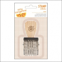 American Crafts Rotary Phrase Stamp Kara Rise and Shine Collection by Amy Tangerine