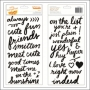 American Crafts Thicker Stickers Words Black Foam Grace Rise and Shine Collection by Amy Tangerine