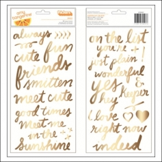 American Crafts Thicker Stickers Words Gold Foil Foam Grace Rise and Shine Collection by Amy Tangerine