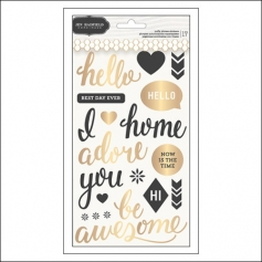 Pebbles Round Puffy Phrase Stickers Living Collection by Jen Hadfield