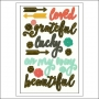 Simple Stories Sentiments Sticker Sheet I AM Collection