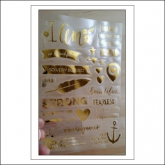 Simple Stories Clear Gold Foil Stickers I AM Collection