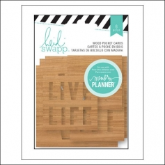 Heidi Swapp Wood Veneer Pocket Cards Hello Beautiful Memory Planner Collection