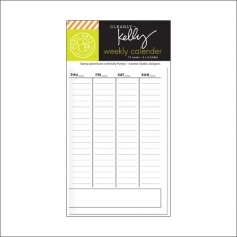 Hero Arts Kellys Weekly Calendar Clearly Kelly Collection by Kelly Purkey