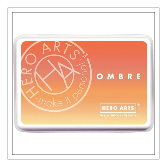 Hero Arts Ombre Ink Pad Butter To Orange