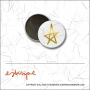 Scrapbook and More 1 inch Round Flair Badge Button Gold Foil Star by Elise Blaha Cripe