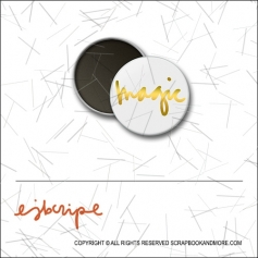Scrapbook and More 1 inch Round Flair Badge Button Gold Foil Magic by Elise Blaha Cripe