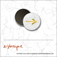 Scrapbook and More 1 inch Round Flair Badge Button Gold Foil Arrow by Elise Blaha Cripe