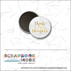 Scrapbook and More 1 inch Round Flair Badge Button Gold Foil Think Big Thoughts