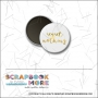 Scrapbook and More 1 inch Round Flair Badge Button Gold Foil Regret Nothing