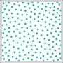 Bella Blvd Transparency Sheet 12x12 inches Clear Cuts Confetti Gulf Blue Color Chaos Collection