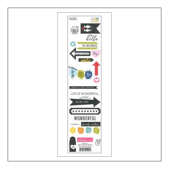 Bella Blvd Cardstock Stickers Trinkets Color Chaos Collection