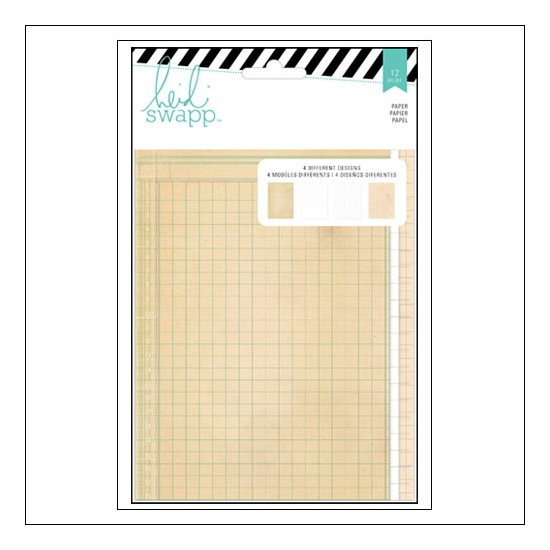 Heidi Swapp Double Sided Patterned Paper Sheets 5x7 inches Wanderlust Collection