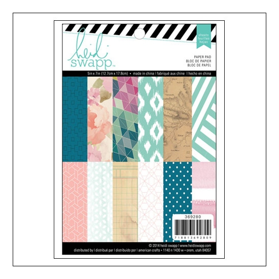 Heidi Swapp Patterned Paper Sheet Set 5x7 inches Wanderlust Collection