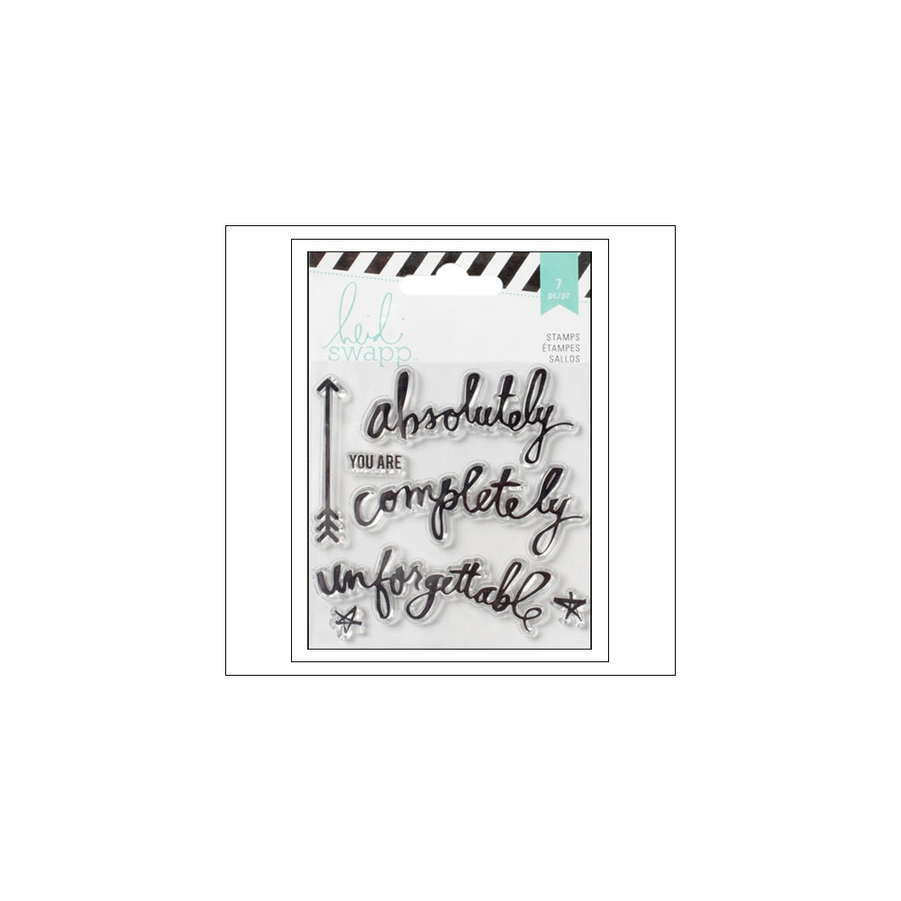 Heidi Swapp Rolodex Acrylic Stamps Memorydex Wanderlust Collection