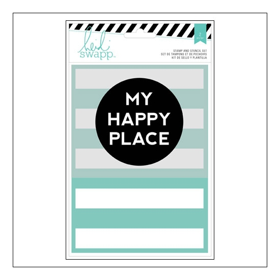 Heidi Swapp Stamp and Stencil Set My Happy Place Wanderlust Collection