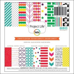 American Crafts Project Life Paper Pad 6x6 inches Confetti Collection by Kristina Proffitt