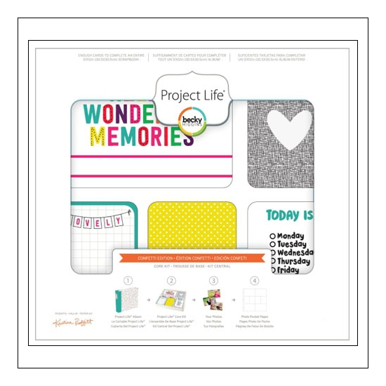 American Crafts Project Life 4x6 inches Core Kit Cards Set Confetti Edition Collection by Kristina Proffitt