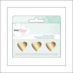 American Crafts Gold Foil Heart Decals Stickers Fine and Dandy Collection by Dear Lizzy