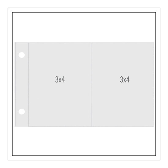 Simple Stories Horizontal Pocket Pages 3 x 4/3 x 4 inches Refill Pages [for 4 x 6 inches album] Snap Studio Collection