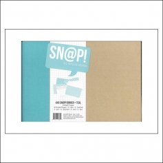 Simple Stories Snap Binder Album Teal 4 x 6 inches Snap Studio Collection