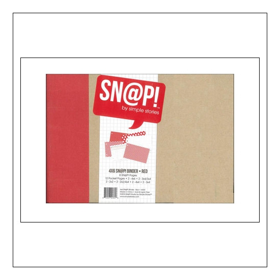 Simple Stories Snap Binder Album Red 4 x 6 inches Snap Studio Collection