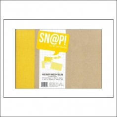 Simple Stories Snap Binder Album Yellow 4 x 6 inches Snap Studio Collection