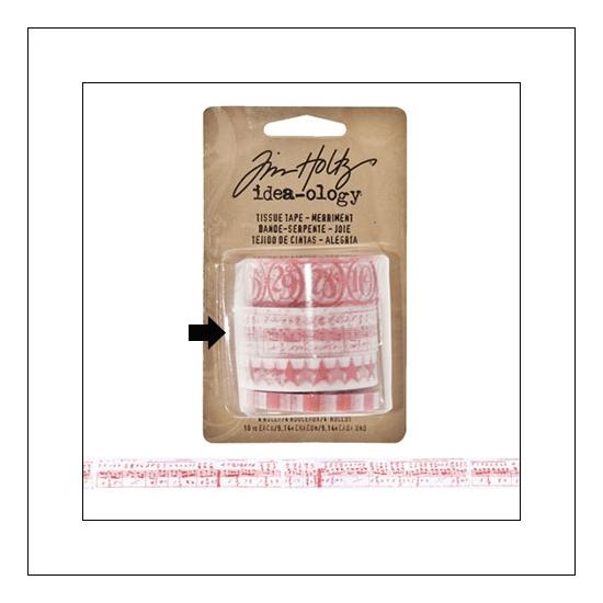 Idea-ology Tissue Tape Roll Merriment Sheet Music by Tim Holtz