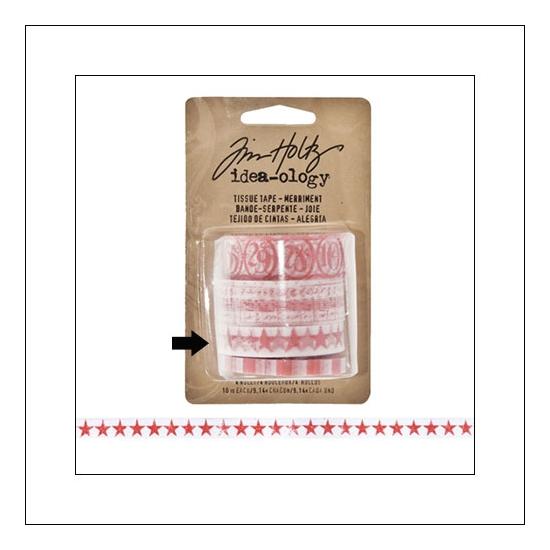 Idea-ology Tissue Tape Roll Merriment Stars by Tim Holtz